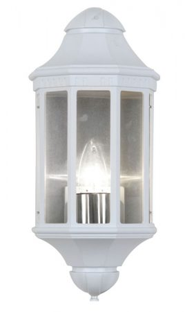 Traditional White Outdoor Wall Lantern