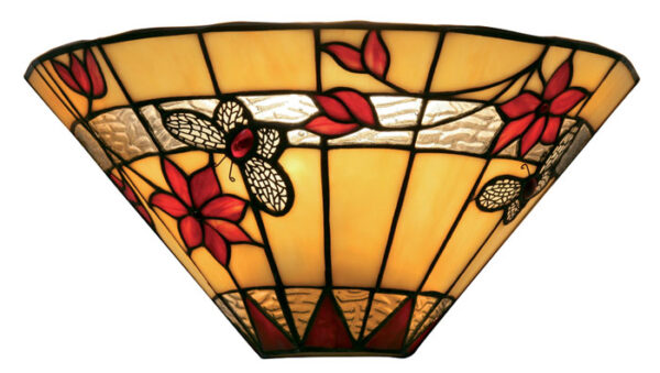 Butterfly 340mm Tiffany Wall Light