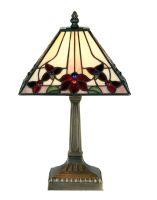 Camillo Small Square 230mm Tiffany Table Lamp