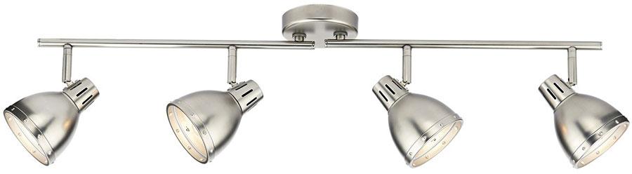 Ceiling Light Support Bar : Dar osaka lamp ceiling spot light bar antique chrome osa