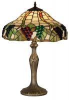 Large Grape Vine Tiffany Table Lamp