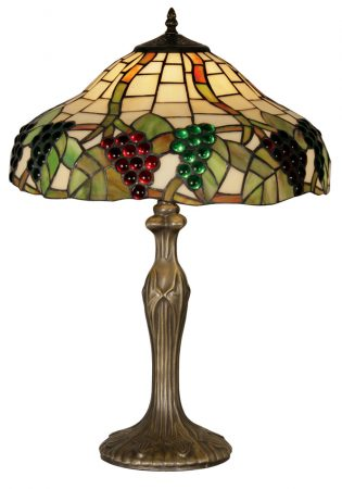 Large Grape Vine Tiffany Table Lamp