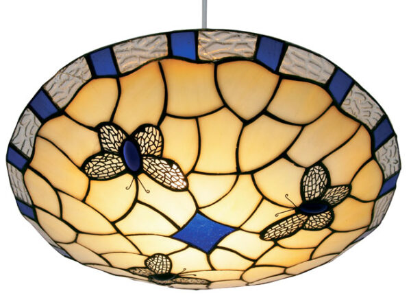 Blue Butterfly Non Electrical Tiffany Pendant Shade