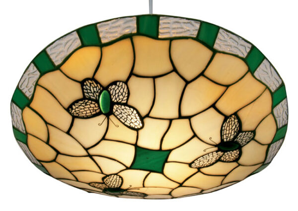 Green Butterfly Non Electrical Tiffany Pendant Shade