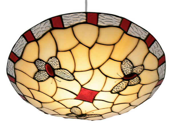 Red Butterfly Non Electrical Tiffany Pendant Shade