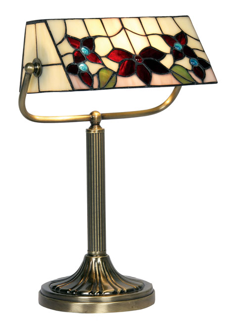 Camillo Rose Design Tiffany Bankers Table Lamp