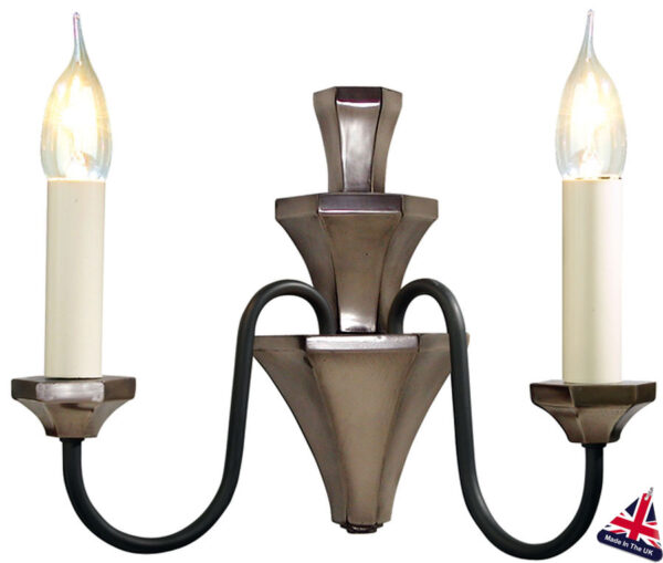 David Hunt Othello Traditional Twin Wall Light Bronze UK Made