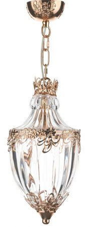 Dar Ottoman 1 Light Hanging Ceiling Lantern French Gold Finish