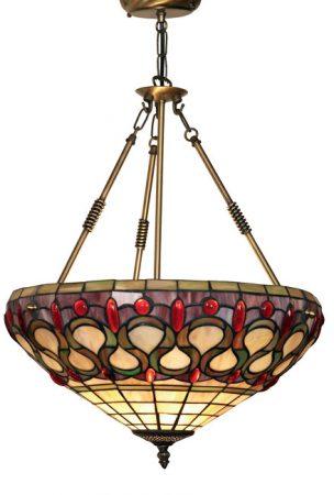 Oberon Semi Flush Tiffany Light