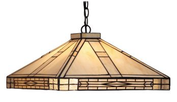 Ophelia Art Deco Tiffany Pendant Light