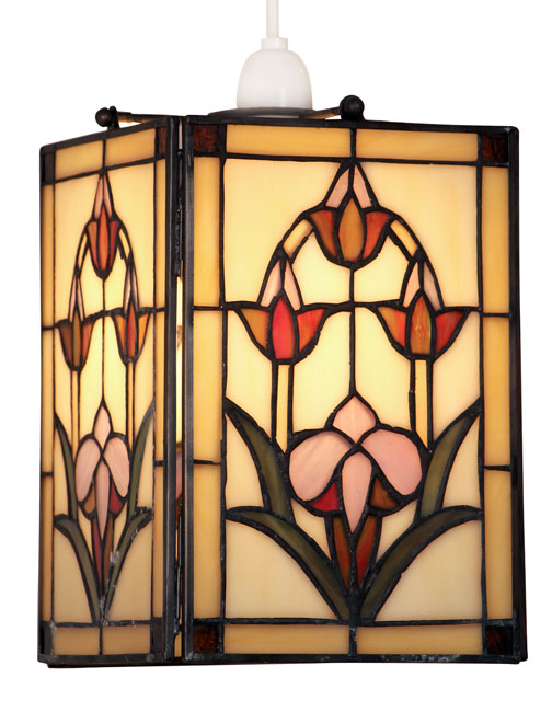 Garden Easy Fit Non Electric Tiffany Pendant Lamp Shade