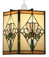 Violet Design Easy Fit Tiffany Pendant Lamp Shade