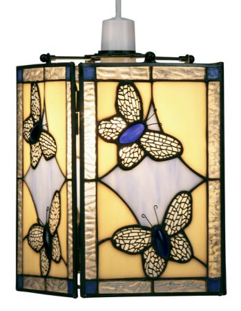 Blue Butterfly Easy Fit Tiffany Pendant Lamp Shade
