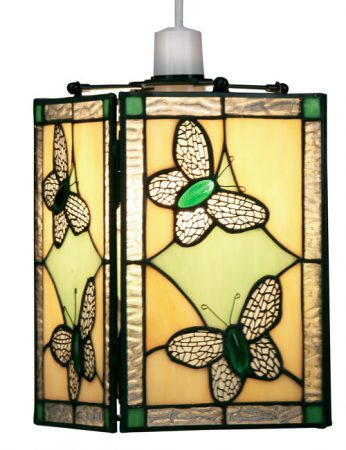 Green Butterfly Easy Fit Tiffany Pendant Lamp Shade
