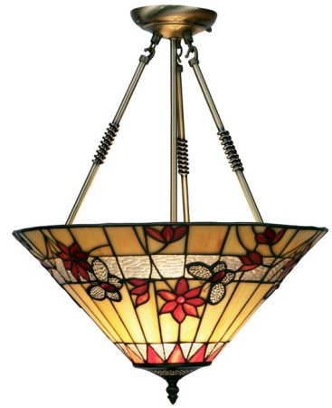 Butterfly 420mm Tiffany Ceiling Light