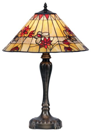 Butterfly 420mm Tiffany Table Lamp