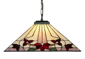 Camillo Jewelled Tiffany Rose Pendant Light