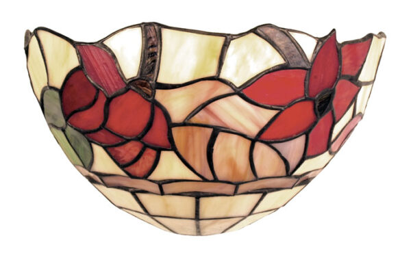 Border Red Floral Tiffany Wall Light