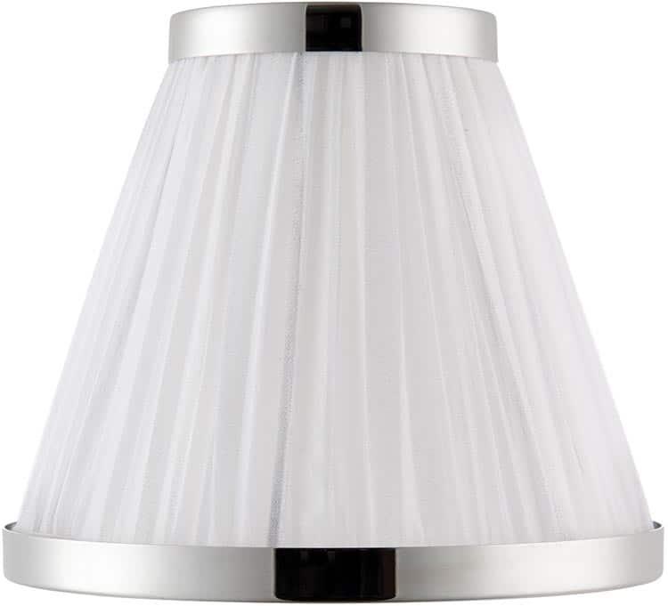 Oksana nickel 3 light chandelier crystal drops white shades 63514 oksana nickel 3 light chandelier crystal drops white shades mozeypictures Images