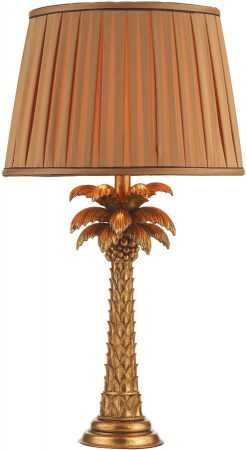Dar Palm Gold Palm Tree Table Lamp Base Only