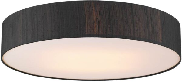 Dar Paolo 4 Light 80cm Flush Silk Drum Various Colours