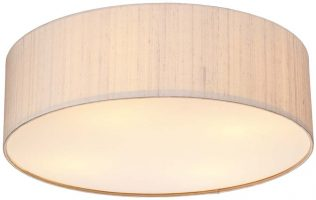 Dar Paolo Modern LED 50cm Flush Silk Drum Various Colours