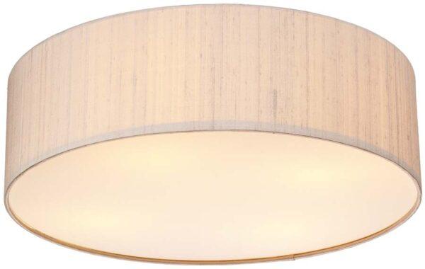 Dar Paolo Modern LED 50cm Flush Silk Drum Various Colours
