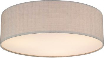 Dar Paolo 3 Light 50cm Flush Silk Drum Various Colours