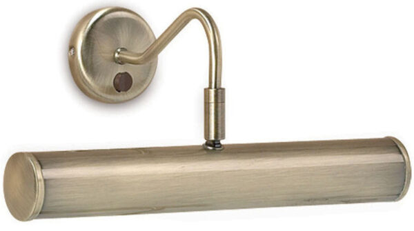 Turner Traditional 355mm Adjustable Switched Picture Light Antique Brass