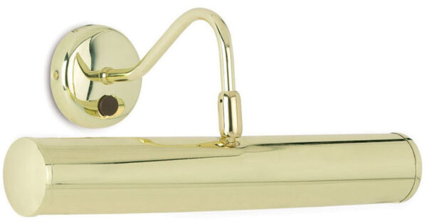 Turner Traditional 355mm Adjustable Switched Picture Light Polished Brass