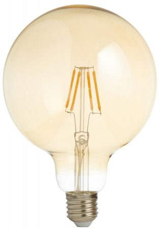Pack Of 5  Dimmable 6w LED 105mm Amber Globe Filament Lamps E27