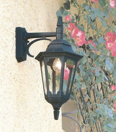 Elstead Parish 1 Light Downward Outdoor Wall Lantern Black