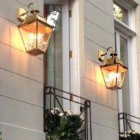Period Outdoor Lighting - Brass