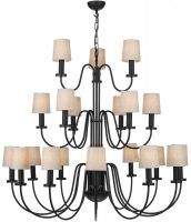 David Hunt Pigalle 21 Light Very Large Matt Black Chandelier