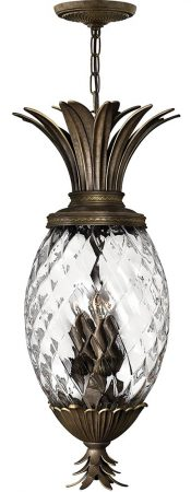 Hinkley Plantation 4 Light Pineapple Pendant Lantern Pearl Bronze