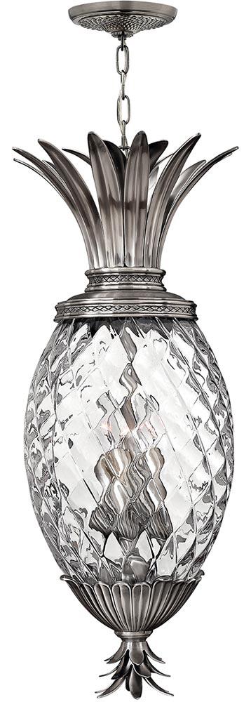 Hinkley Plantation 4 Light Pineapple Pendant Lantern Antique Nickel