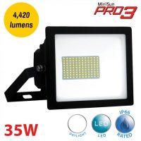 Pro3 35w LED Daylight Security Floodlight Black IP66 4420 Lumen