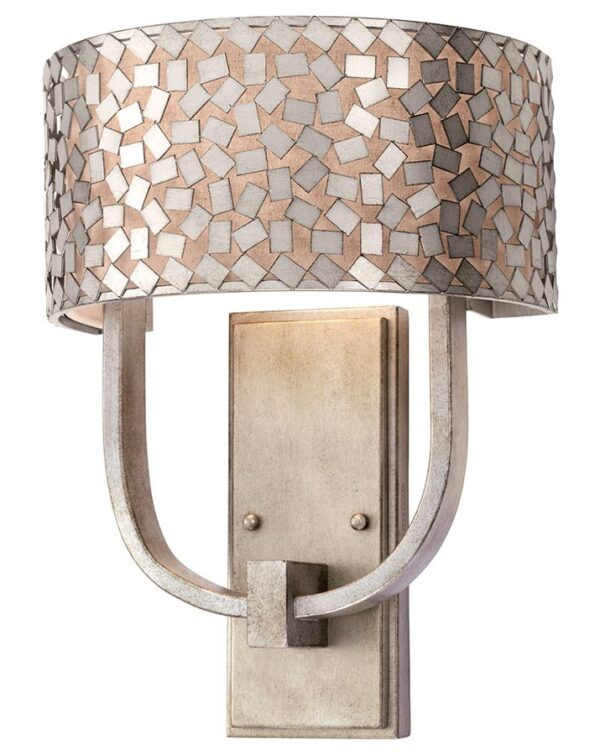 Confetti 2 light designer wall light old silver