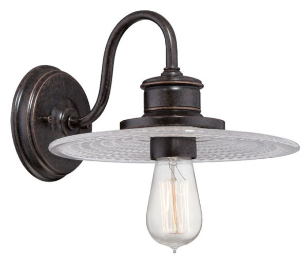 Deco Style Wall Lights : Quoizel Admiral Deco Style Wall Light Imperial Bronze Glass Shade ADMIRAL1/IB