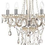 Dar Raphael Traditional 5 Light Chandelier Champagne Glass