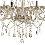 Dar Raphael Traditional 8 Light Chandelier Champagne Glass