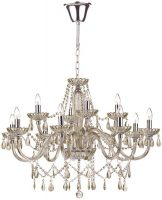 Dar Raphael Large 12 Light Chandelier Champagne Glass