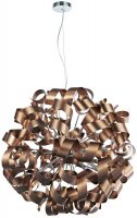Dar Rawley Large Modern 12 Light Copper Ribbon Pendant