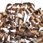 Dar Rawley Large 12 Light Ribbon Pendant Brushed Copper