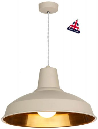 David Hunt Reclamation 1 Light Ceiling Pendant Cotswold Cream