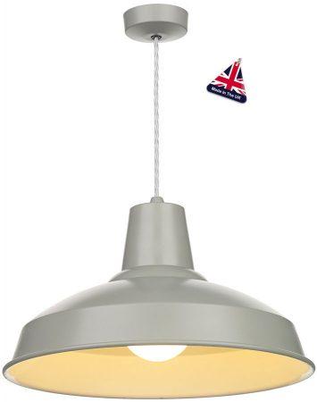 David Hunt Reclamation 1 Light Ceiling Pendant Powder Grey