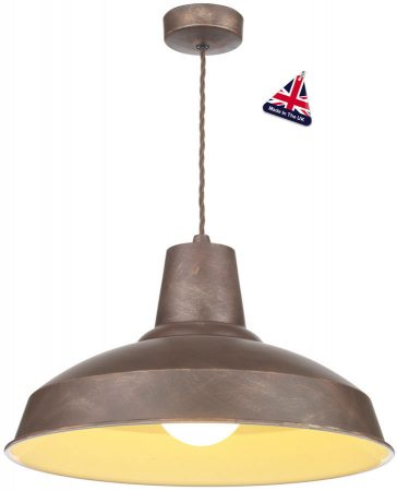 David Hunt Reclamation 1 Light Ceiling Pendant Weathered Bronze