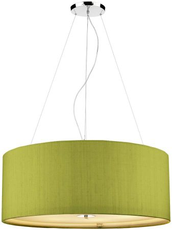 Dar Renoir 6 Light 90cm Silk Drum Pendant Various Colours