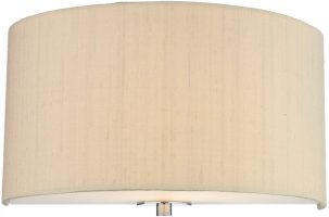Dar Renoir 1 Light Silk Drum Wall Lamp Various Colours