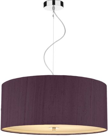 Dar Renoir 3 Light 60cm Silk Drum Pendant Various Colours